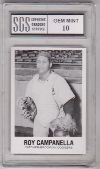 Graded Gem Mint 10 - Roy Campanella 1977 TCMA #5 Card