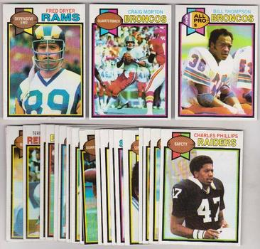 25 Different 1979 Topps Football Cards - Fred Dryer + More