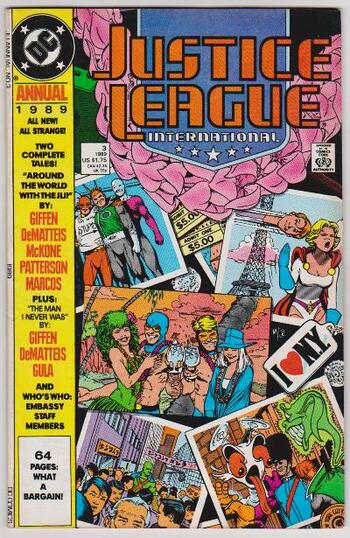 1989 DC Comics JUSTICE LEAGUE INTERNATIONAL #3 Annual Issue