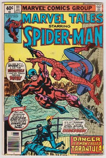 1980 Marvel Tales Featuring SPIDER-MAN #111 Issue - Marvel Comics