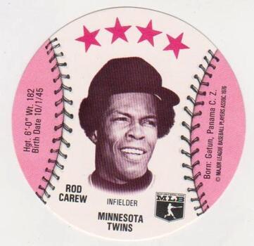 1976 Isaly's Disc Rod Carew Card - HOF'er