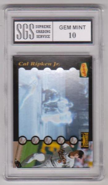 Graded Gem Mint 10 - Cal Ripken 1996 Pinnacle Denny's Hologram #2 Card