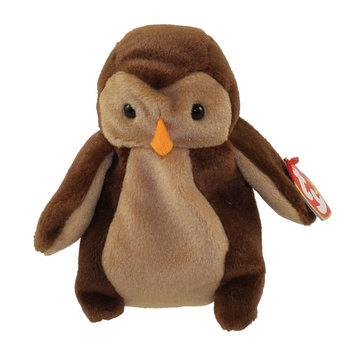1995 Ty Beanie Baby Hoot The Owl - New With Tags