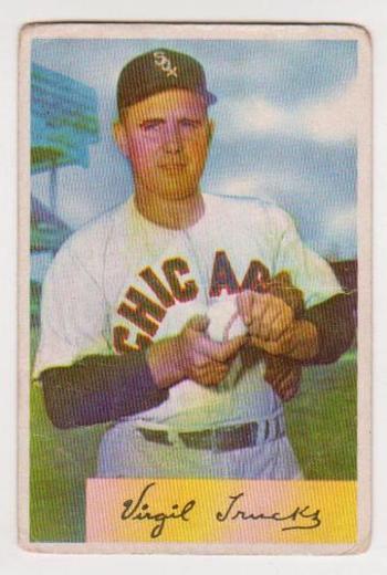 1954 Bowman Virgil Trucks #198 Card - Chicago White Sox