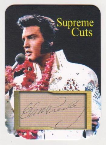 #30/75 Produced - Elvis Presley Facsimile Autograph Supreme Cuts Special Die Cut Card - Scarce!