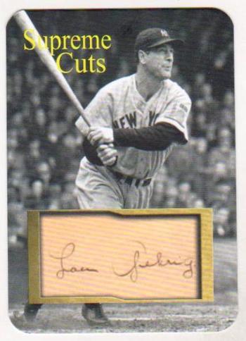 #47/50 Produced - Lou Gehrig Facsimile Autograph Supreme Cuts Card - Scarce!