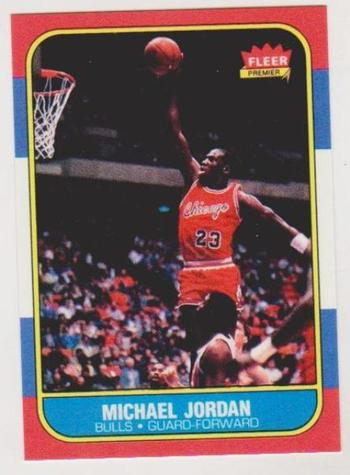 1986 Fleer Michael Jordan #57 Rookie Card Reprint
