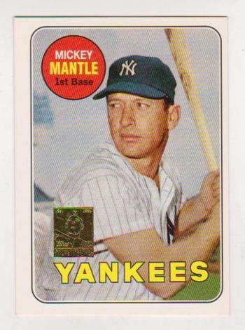 Mickey Mantle 1969 Topps #500 Commemorative Card - 1996 Topps #19 of 19 Insert Card