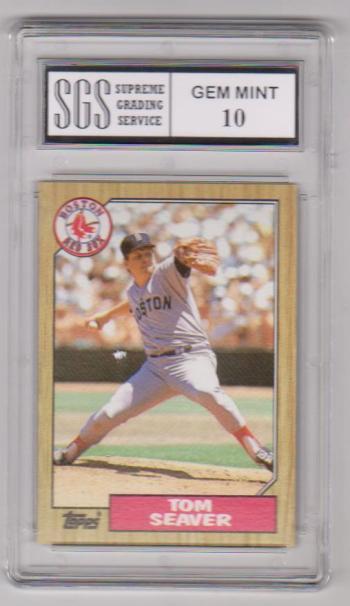 Graded Gem Mint 10 - Tom Seaver 1987 Topps #425 Card