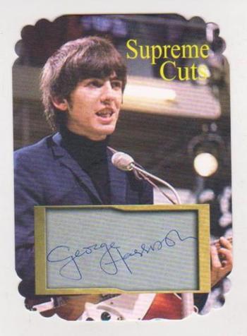 #23/25 Produced - George Harrison Facsimile Autograph Supreme Cuts Special Die Cut Card - The Beatles