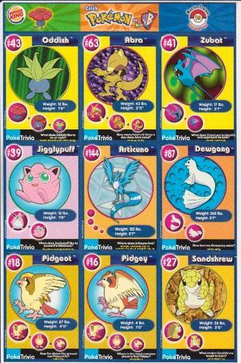 1999 Pokemon Master Trainer Collector Set Uncut 9 Card Uncut #19 Sheet