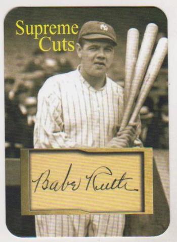 #28/50 Produced - Babe Ruth Facsimile Autograph Supreme Cuts Card - Scarce!