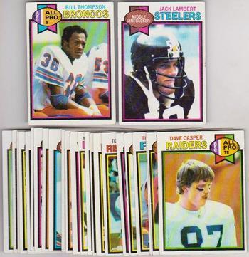 25 Different 1979 Topps Football Cards - Jack Lambert + More