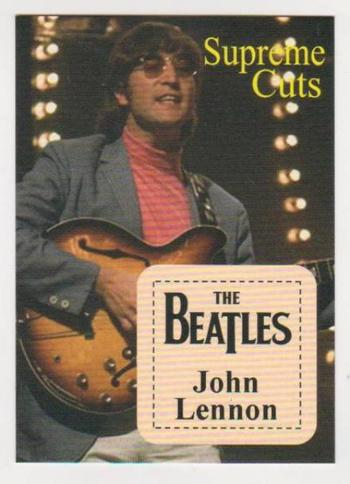 #35/99 Produced - John Lennon Facsimile Autograph Supreme Cuts Limited Edition Card