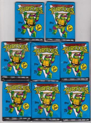 Lot of 8 1990 Topps Teenage Mutant Ninja Turtles Series 2 Sealed Packs