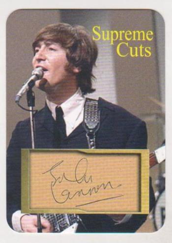 #19/50 Produced - John Lennon Facsimile Autograph Supreme Cuts Die Cut Card - The Beatles