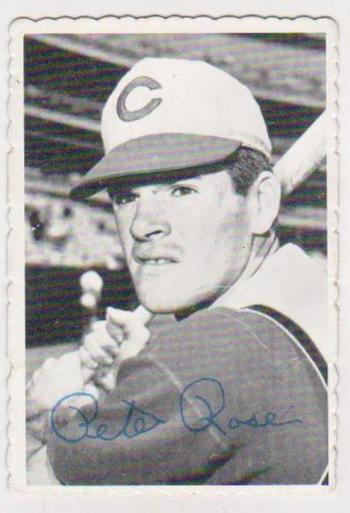 1969 Topps Deckle Pete Rose #21 Card