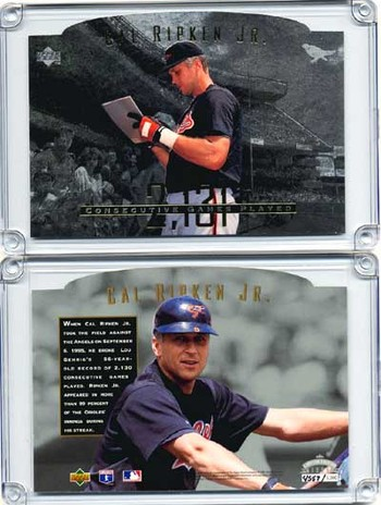 1995 Upper Deck Cal Ripken, Jr. Silver Die Cut C-Card 1 of 5000!