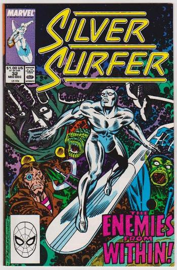 1989 The Silver Surfer #32 Issue - Marvel Comics