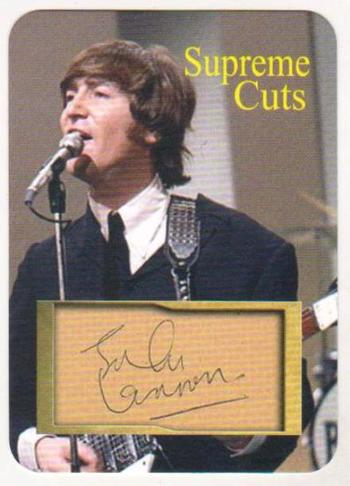#10/50 Produced - John Lennon Facsimile Autograph Supreme Cuts Die Cut Card - The Beatles