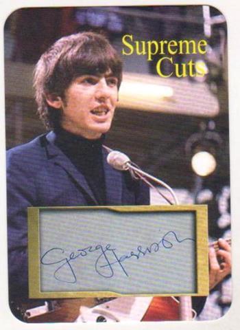 #13/50 Produced - George Harrison Facsimile Autograph Supreme Cuts Die Cut Card - The Beatles