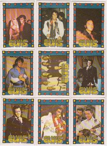Vintage - 1978 Elvis Presley Monty Gum Trading Cards - 9 Different