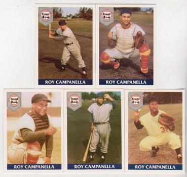 Roy Campanella 1992 Front Row 5 Card Baseball Set