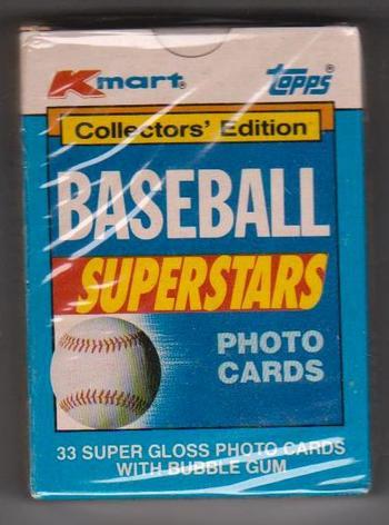 Sealed - 1990 Topps K-Mart Super Stars 33 Card Factory Set