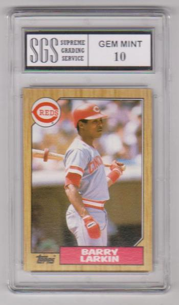 Rookie Graded Gem Mint 10 - Barry Larkin 1987 Topps #648 Card