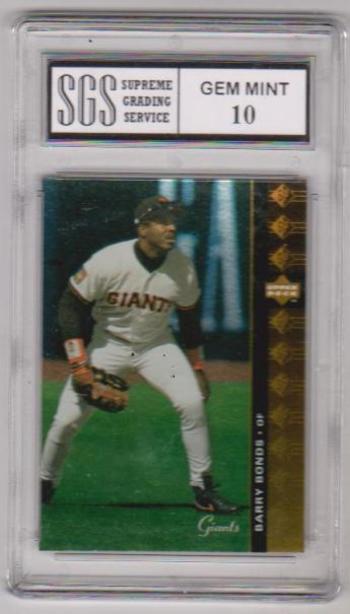 Graded Gem Mint 10 - Barry Bonds 1994 Upper Deck SP #90 Card