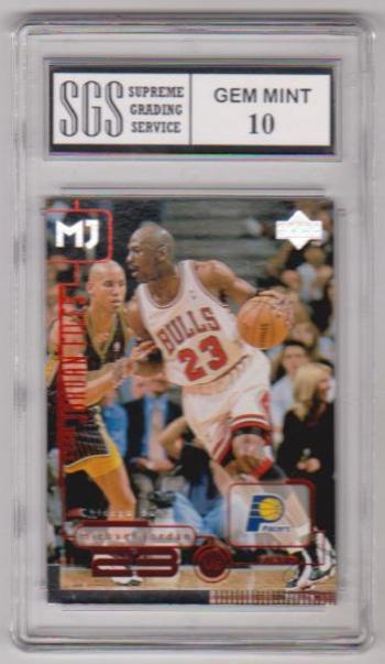 Graded Gem Mint 10 - Michael Jordan 1998 Upper Deck Living Legends #145 Card