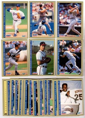 1993 Fleer Baseball Atlantic 25 Card Set - Nolan Ryan, Cal Ripken + More