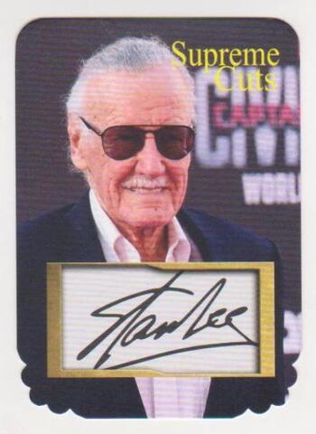 #40/75 Produced - Stan Lee Facsimile Autograph Supreme Cuts Die Cut Card - Scarce!