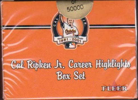 Sealed 2001 Fleer Cal Ripken, Jr. Career Highlights 60 Card Factory Set