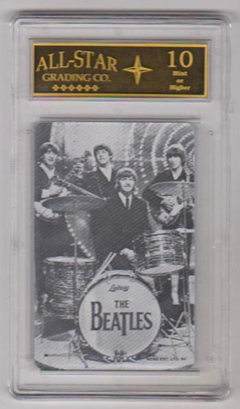 Graded 10 - 1964 The Beatles Full Band Black And White Playing Card
