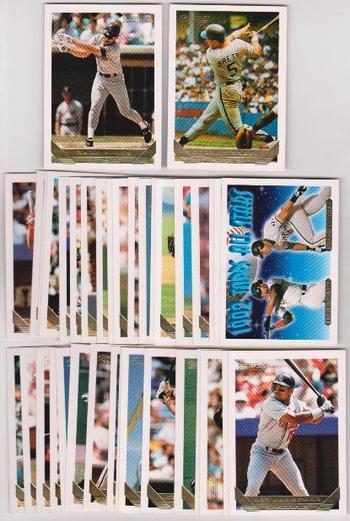 50 Different 1993 Topps Gold Baseball Insert Cards - George Brett + More