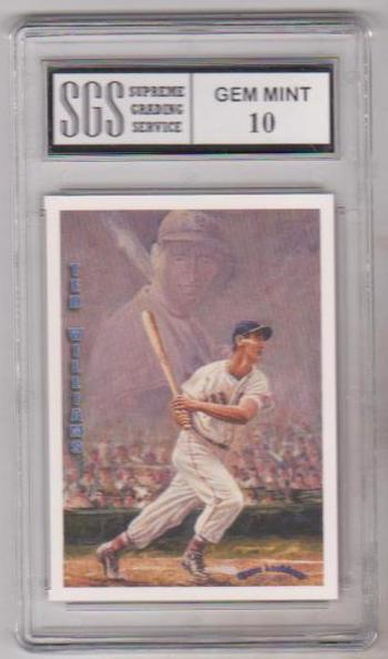Graded Gem Mint 10 - Ted Williams 1993 Ted Williams Locklear #LC9 Insert Card