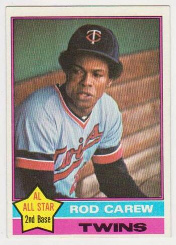 1976 Topps Rod Carew #400 Card - HOF'er