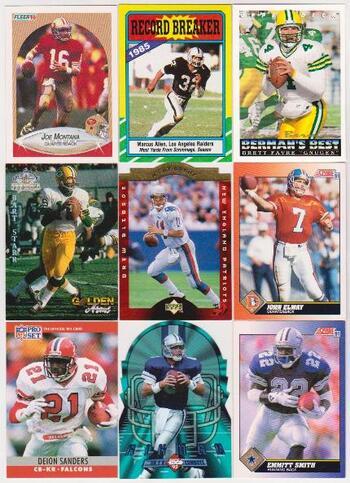 Football Card Collection 1986-1996 w/ Brett Favre, Joe Montana + More