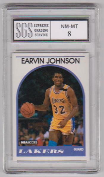 Graded NM-MT 8 - Magic Johnson 1989-90 Hoops #270 Card