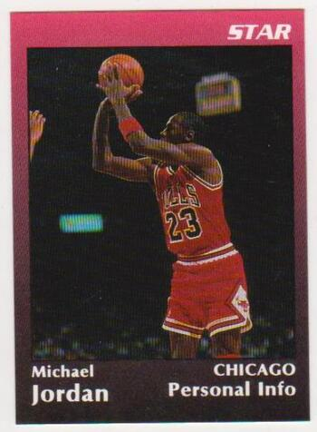 Michael Jordan 1991 Star Glossy Promo #5 Card - Only 1,000 Produced