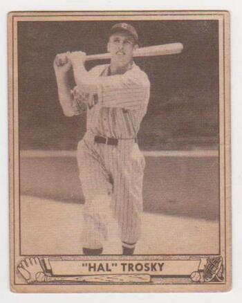 1940 Play Ball Hal Trosky #50 Card - Cleveland Indians