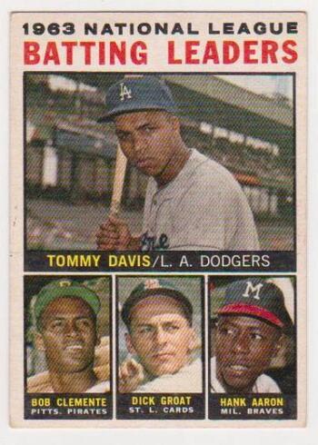 1964 Topps Roberto Clemente/Hank Aaron/Tommy Davis/Dick Groat #7 Card