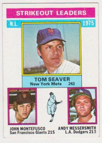 1976 Topps Tom Seaver/John Montefusco/Andy Messersmith #203 Baseball Card