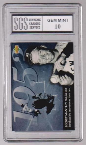 Graded Gem Mint 10 - Mickey Mantle 1994 Upper Deck All-Time Heroes #116 Card