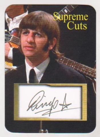 #34/50 Produced - Ringo Starr Facsimile Autograph Supreme Cuts Die Cut Card - The Beatles