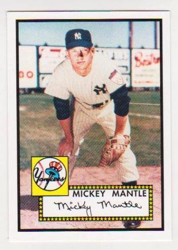Mickey Mantle 1952 Topps #311 Rookie Commemorative Card - 2006 Topps #25 Rookie Of The Week Card