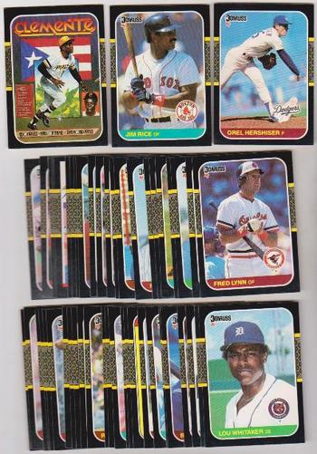 50 Different 1987 Donruss Baseball Cards - Roberto Clemente + More