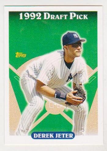 Derek Jeter 1993 Topps Rookie Commemorative Card - 2006 Topps #18 Rookie Of The Week Card