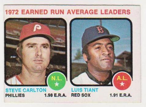1973 Topps Steve Carlton + Luis Tiant #65 Card